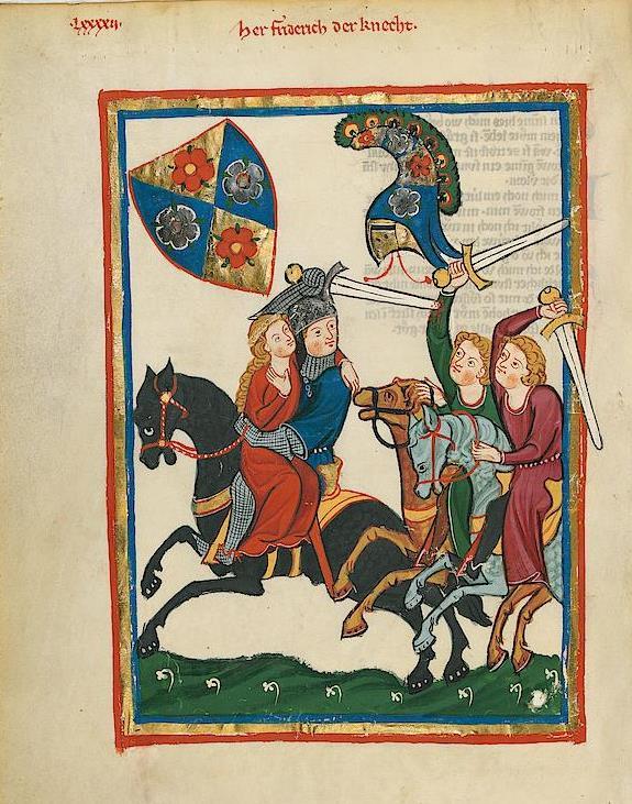 Codex Manesse, fl. 316v. auch Große Heidelberger Liederhandschrift