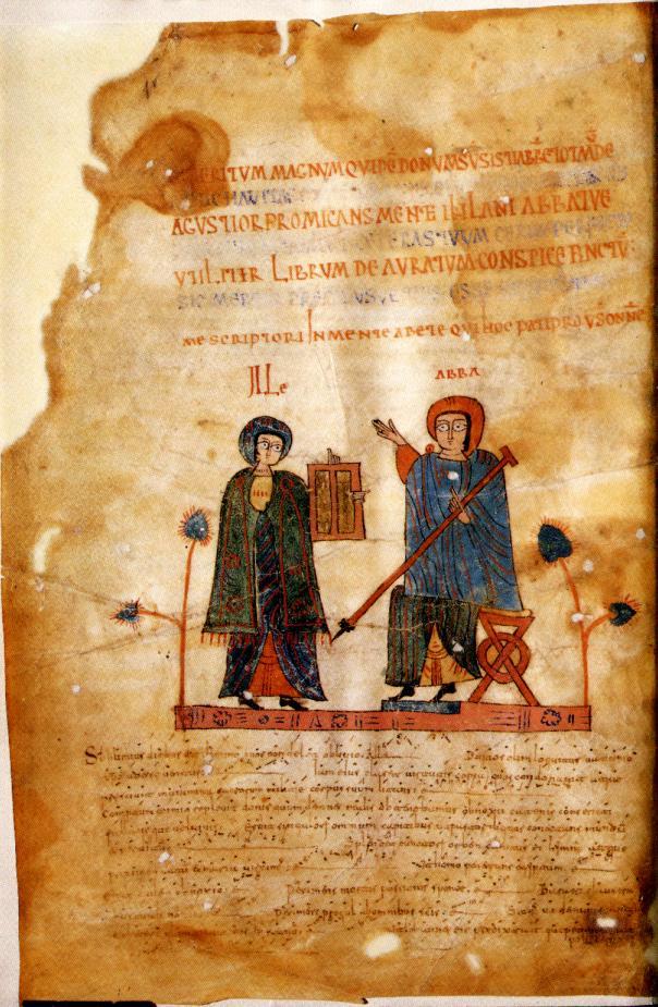 Antifonario de León (siglo XI), fl 1v. Catedral de León.