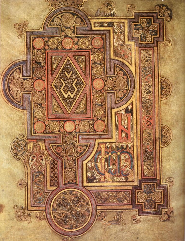 Evangelario de Kells, siglo IX.