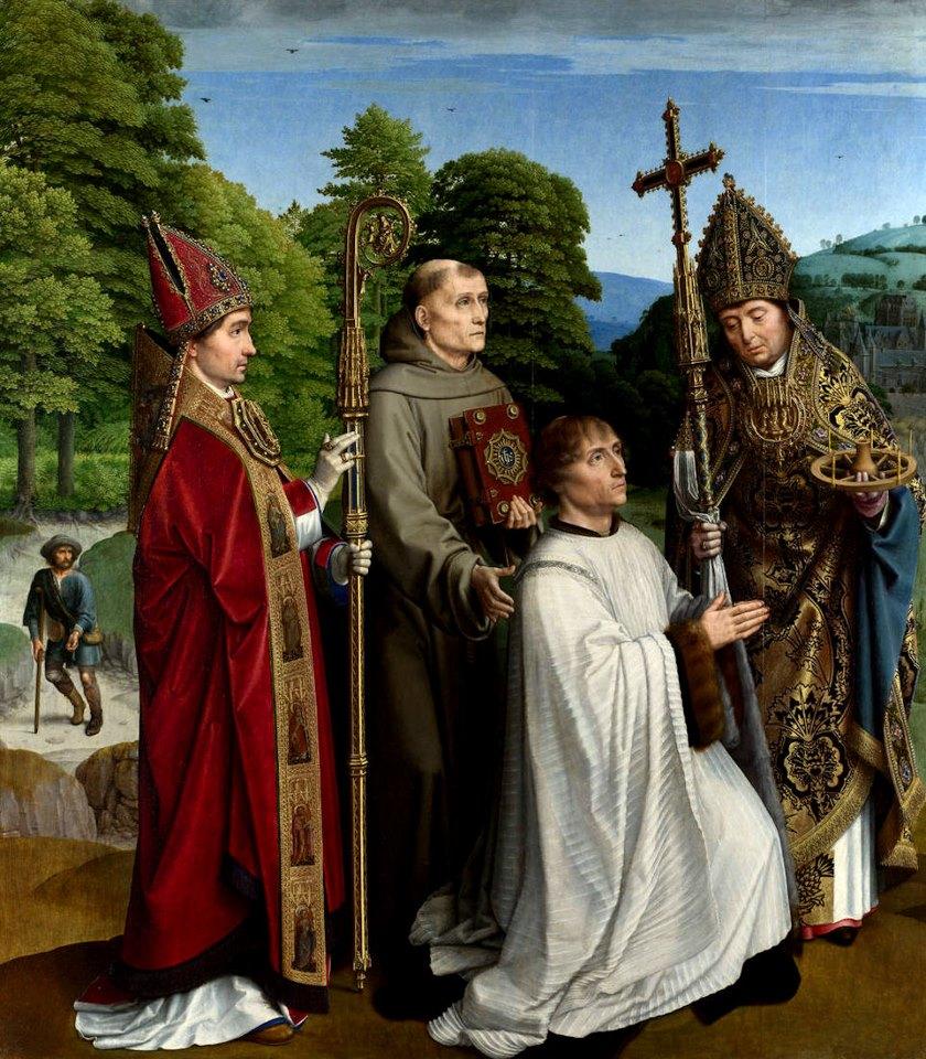 El canónigo Bernardijn-Salviati con sus santos protectores, de Gerard David.