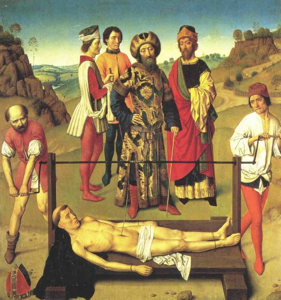 Dieric Bouts, Martirio de San Erasmo Obispo, Colegiata de la iglesia de san Pedro, Lovaina.