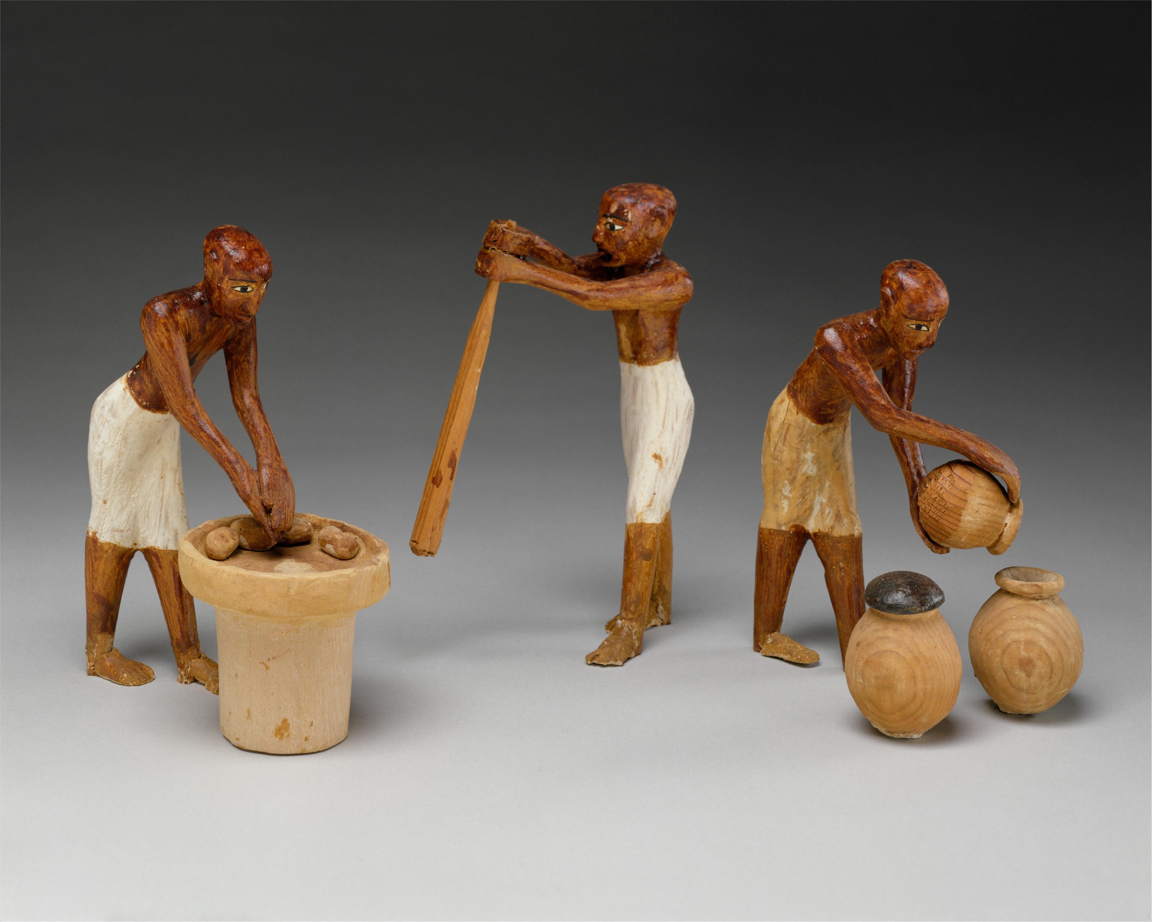 Cerveceros en la tumba del faraón Meketre, ca. 1981–1975 A. C.